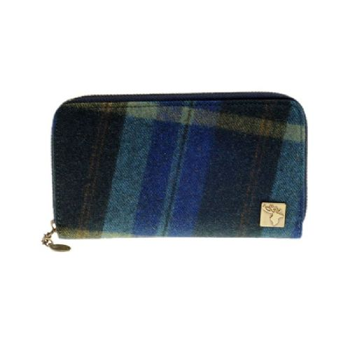 House of Tweed Purse in Multi Check